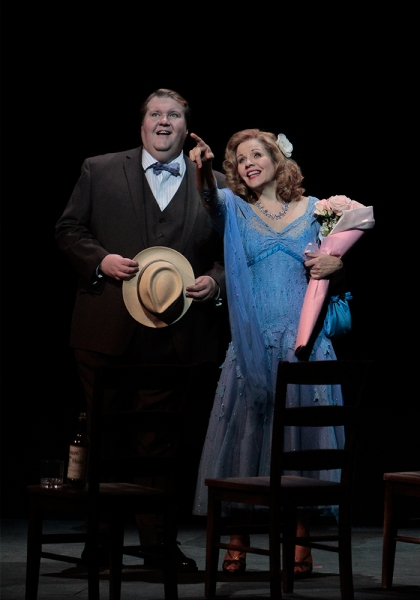 Anthony Dean Griffey as Mitch and Renee Fleming as Blanche Photo