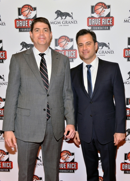 "UNLV Runnin' Rebels head coach, Dave Rice, with Jimmy Kimmel at �""An Evening with Dave Rice"""