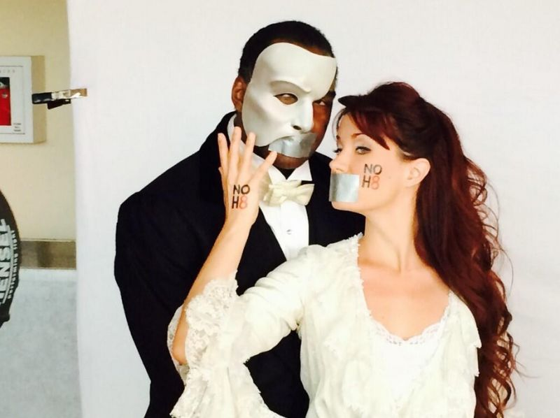 Twitter Watch: PHANTOM's Sierra Boggess & Norm Lewis Preview NOH8 Looks!