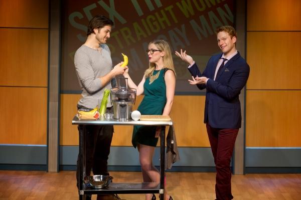 Keith Hines (Stefan), Rachel Moulton (Robyn), and Grant MacDermott (Dan