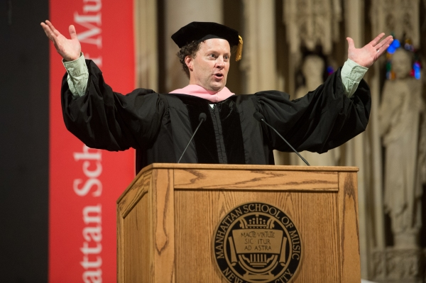 Photo Flash: Shuler Hensley Speaks at Manhattan School of Music's 2014 Commencement