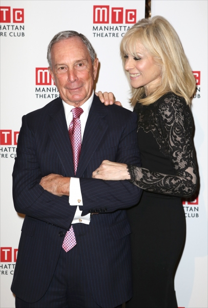 Michael Bloomberg and Judith Light