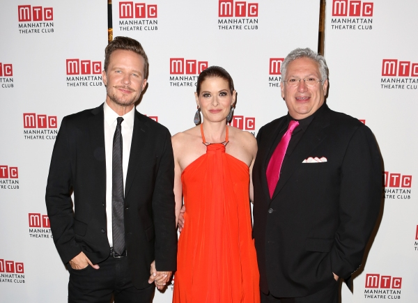 Will Chase, Debra Messing and Harvey Fierstein