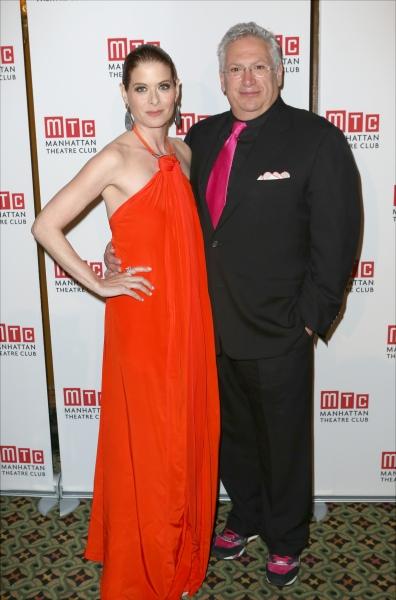 Debra Messing and Harvey Fierstein