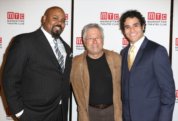 James Monroe Iglehart, Alan Menken and Adam Jacobs