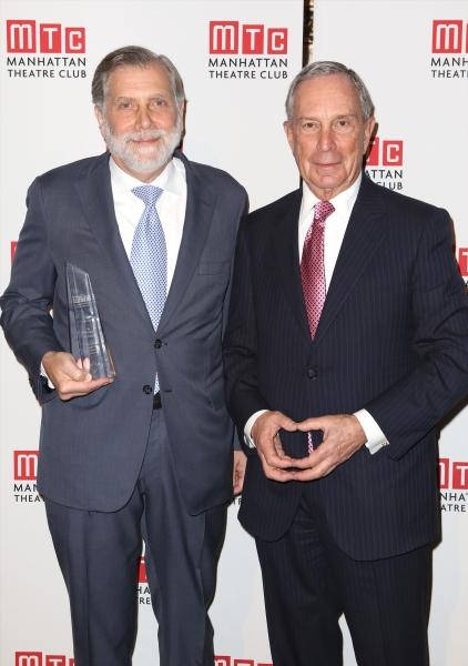 Tom Secunda and Michael Bloomberg