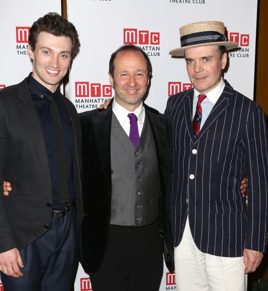 Bryce Pinkham, Steven Lutvak and Jefferson Mays
