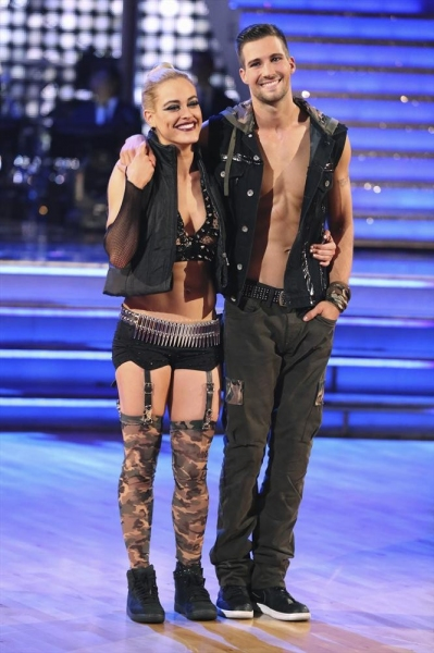 DANCING WITH THE STARS - ''Episode 1810'' - At the end of night, James Maslow and Peta Murgatroyd were eliminated on MONDAY, MAY 19 (8:00-9:30 p.m., ET) on the ABC Television Network. (ABC/Adam Taylor)PETA MURGATROYD, JAMES MASLOW