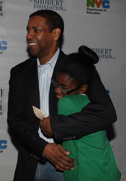 Denzel Washington and Soraya Jean-Baptiste