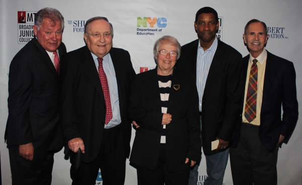 Robert E. Wankel, Philip J. Smith, Carmen Fariña, Denzel Washington and Freddie Gershon