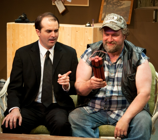 (L to R): Jason Newman and Lowell Bartholomee in Austin Playhouse''s production of TH Photo