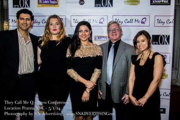 Photo Flash: Company of THEY CALL ME Q Meets the Press