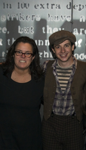 Rosie O'Donnell and Jack Scott backstage at NEWSIES