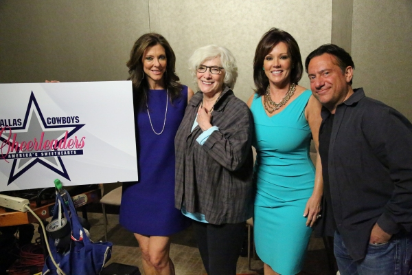 Photo Flash: Betty Buckley Visits Dallas Cowboys Cheerleaders for 'MAKING THE TEAM'