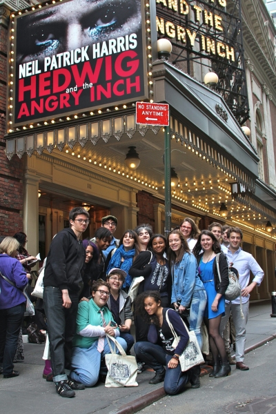 Photo Flash: Quest To Learn High Schoolers Meet Hasty Pudding Members and HEDWIG Creatives