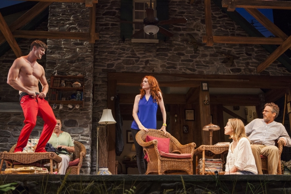 Tyler Lansing Weaks as Spike, Marcia DeBonis as Sonia, Candy Buckley as Masha, Allison Layman as Nina, and Martin Moran as Vanya