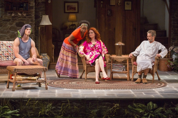 Tyler Lansing Weaks as Spike, Haneefah Wood as Cassandra, Candy Buckley as Masha, and Martin Moran as Vanya