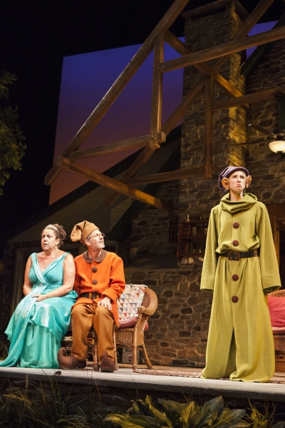 Marcia DeBonis as Sonia, Martin Moran as Vanya, and Allison Layman as Nina