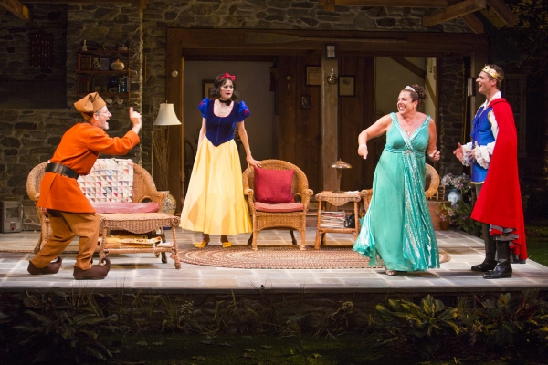 Martin Moran as Vanya, Candy Buckley as Masha, Marcia DeBonis as Sonia, and Tyler Lansing Weaks as Spike