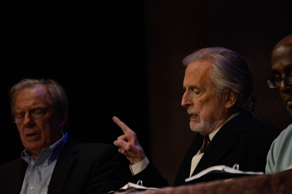 Michael McKean, Fritz Weaver, and James A. Williams in a scene from Unexplored Interi Photo