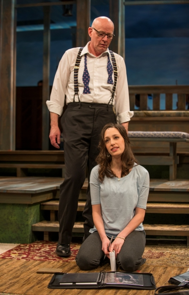 Jonathan Weir (Frank) and Emily Berman (Tessa)