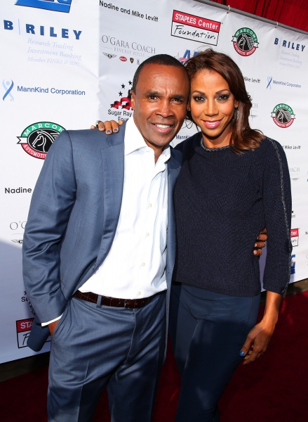 Former professional boxer Sugar Ray Leonard and actress Holly Robinson Peete