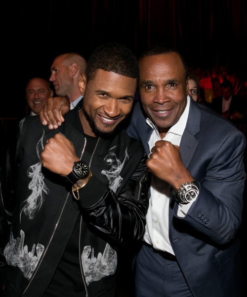 Former professional boxer Sugar Ray Leonard and recording artist Usher