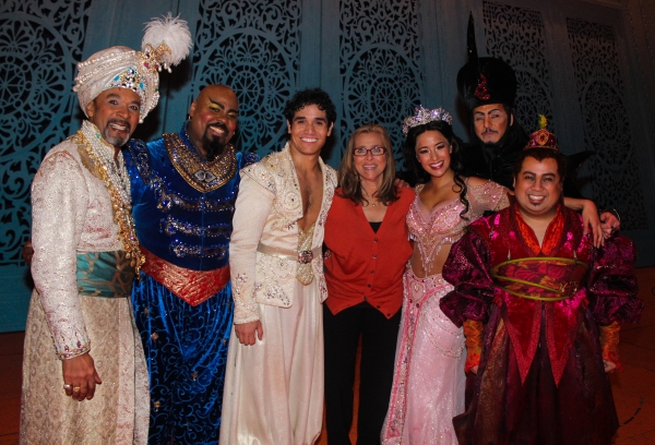 Photo Coverage: Meredith Vieira Visits ALADDIN