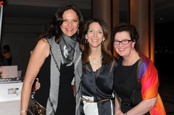 Francesca Debiase, left, with Karen Matusinec, center, and Martha Smith