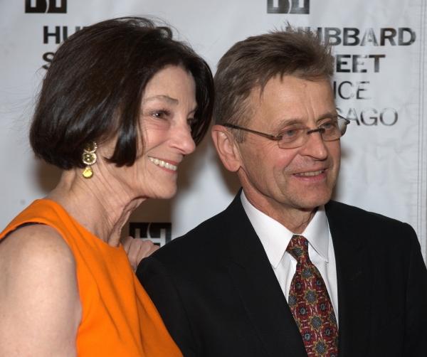 Anne Kaplan, left, and Mikhail Baryshnikov
