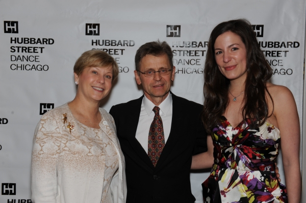 Denise Stefan-Ginascol, Mikhail Baryshnikov and Ashley Ginascol