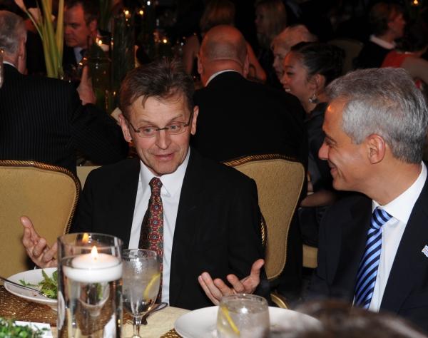 Mikhail Baryshnikov, left, and Chicago Mayor Rahm Emanuel