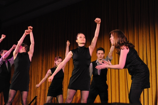 The Second City's Kate James performs with Hubbard Street Dancers, from left: Jason Hortin, Kellie Epperheimer, Emilie Leriche, Alice Klock (foreground) and Kevin J. Shannon