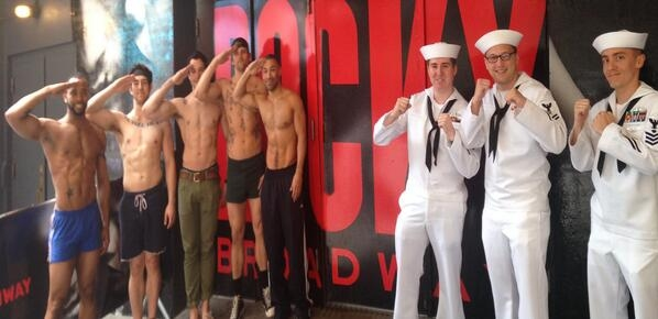 Photo Flash: Saturday Intermission Pics, 5/24- ROCKY, BULLETS OVER BROADWAY, and More Pay Tribute to Memorial Day