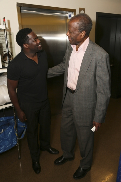 Daniel Beaty and Sidney Poitier