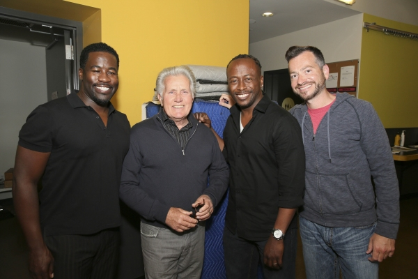 Daniel Beaty, Martin Sheen, Kenny J. Seymour and Craig Campbell