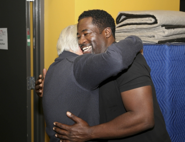 Martin Sheen hugs Daniel Beaty