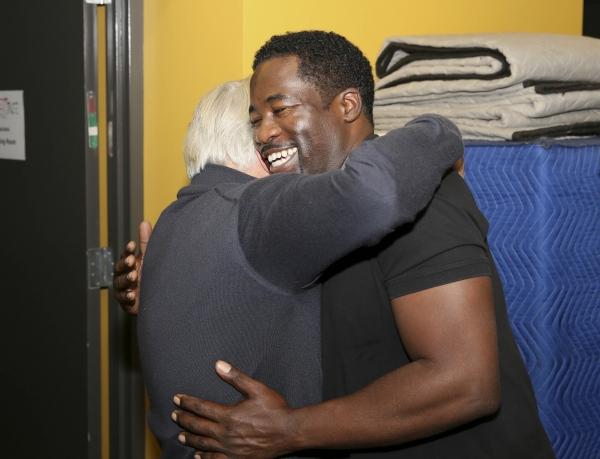 Martin Sheen hugs Daniel Beaty