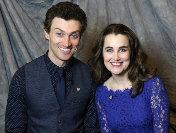 In the Spotlight Series: In the Tonys Photo Booth with Nominees Bryce Pinkham & Lauren Worsham