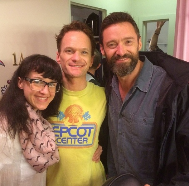 PHOTO: Hugh Jackman Visits HEDWIG's Neil Patrick Harris & Lena Hall