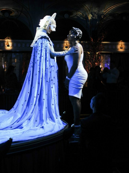 The Marchesa (Katherine Crockett) and Fantasia Barrino.