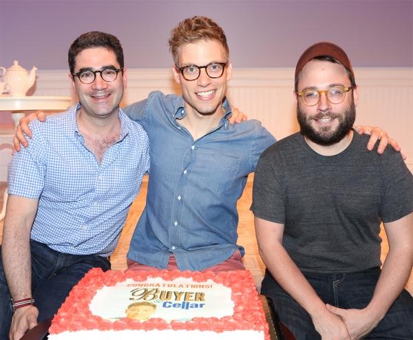 Playwright Jonathan Tolins, Barrett Foa and Director Stephen Brackett