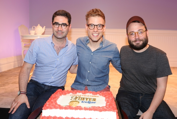 Playwright Jonathan Tolins, Barrett Foa and Director Stephen Brackett