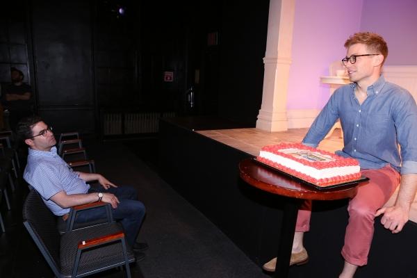 Playwright Jonathan Tolins and  Barrett Foa