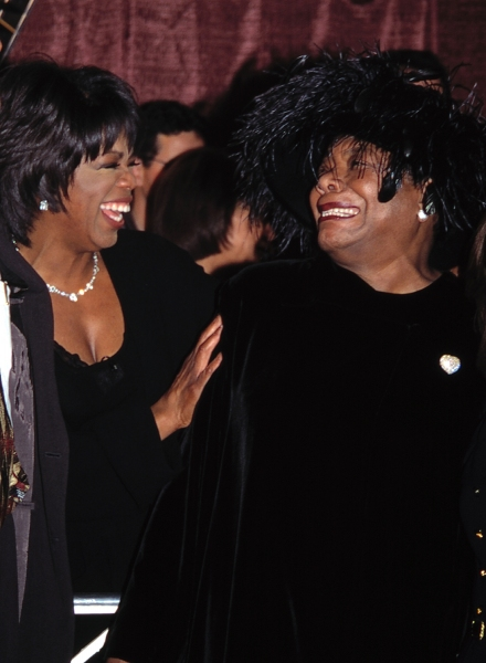 Oprah Winfrey and Maya Angelou Attending the Celebration of Quincy Jones'' 50th Year in Music at Roseland, New York City. November 7, 1995