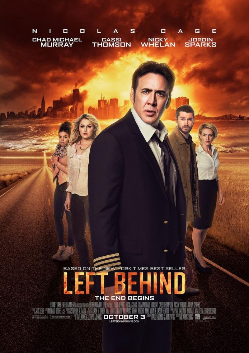 First Look - Nicolas Cage Featured in New Poster for LEFT BEHIND
