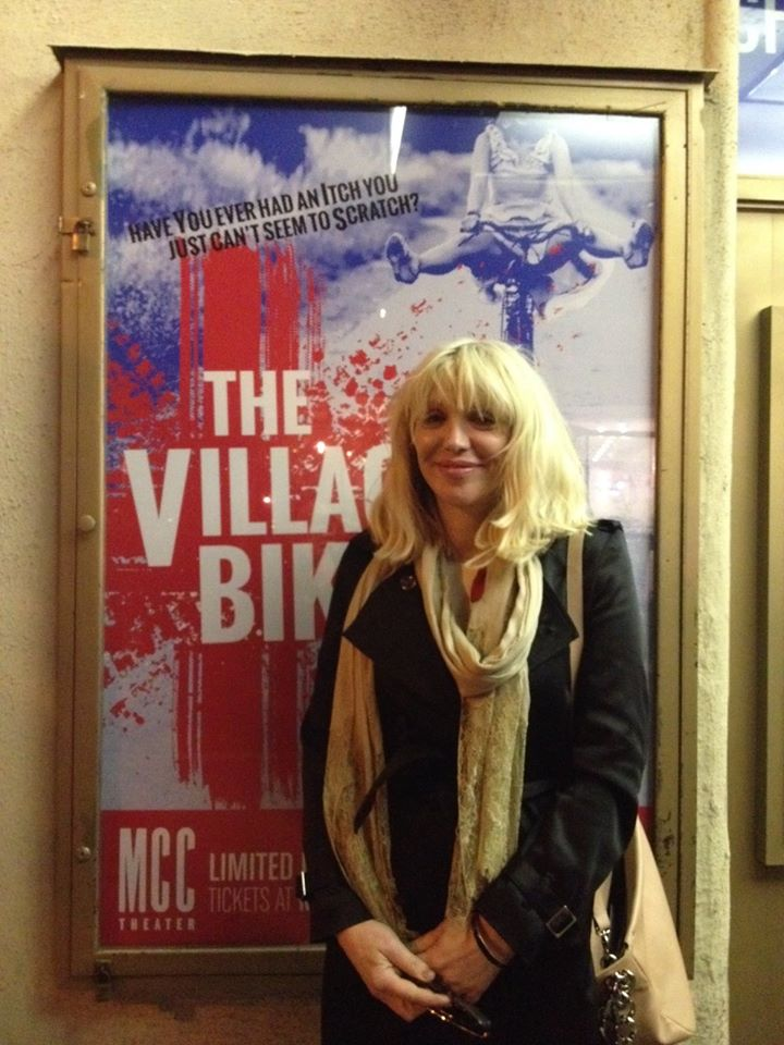 Courtney Love Attends THE VILLAGE BIKE
