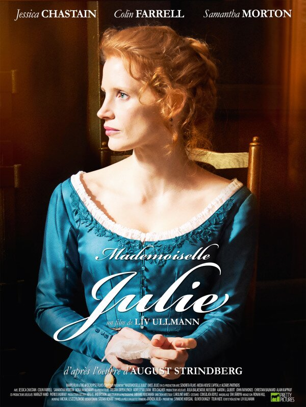 Poster Unveiled For Jessica Chastain & Colin Farrell In Liv Ullmann's MISS JULIE