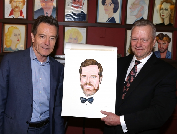 Photo Coverage: ALL THE WAY Cast Celebrates Bryan Cranston's Sardi's Caricature Unveiling!