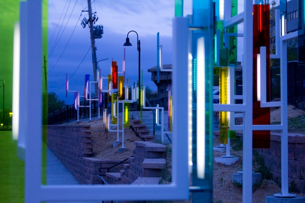 Photo Flash: First Look at Ivan Toth Depeña's Public Art Installation, COLOR FIELD